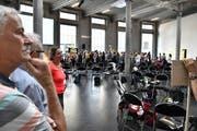 Das erste Forum zur Erarbeitung des Kulturkonzepts 2020 der Stadt St.Gallen: In der Lokremise diskutierten über 150 Kulturschaffende darüber, welche Anliegen in dieses Grundlagenpapier einfliessen sollten. (Bild: Simon Netzle - 15. August 2018)