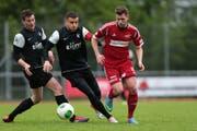 Die Black Stars spielen - natürlich - in schwarz. Im Bild in einem 1.-Liga-Spiel gegen den FC Sursee. (Bild: PD)