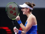 Belinda Bencic bleibt in Shenzhen im Titelrennen (Bild: KEYSTONE/AP/ANDY WONG)