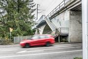 Der bestehende Treppenabgang am Viadukt Bergstrasse muss einem neuem Abgang weichen. (Bild: Andrea Stalder)