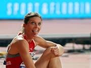 Endlich hat es für Lea Sprunger geklappt mit dem Schweizer Rekord (Bild: KEYSTONE/EPA/YAHYA ARHAB)