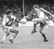 Patricio Mardones (links) spielte von Januar 1989 bis Ende 1991 beim FC St.Gallen.(Bild: Archiv St.Galler Tagblatt)