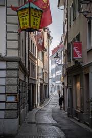 Die Furrengasse ist ein weiterer von Heinz Wirz' Lieblingsorten. (Bild: Nadia Schärli, Luzern, 25. September 2019)
