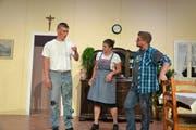 Von links: Matthias Kempf, Martina Lang und Thomas Stadelmann bei der Hauptprobe. (Bild: Yvonne Imbach, Eschenbach, 30. September 2019)