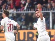 Rodriguez-Konkurrent Theo Hernandez erzielt gegen Genoa sein erstes Tor für Milan (Bild: KEYSTONE/EPA ANSA/LUCA ZENNARO)