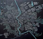 Dutzende Anregungen in den Umrissen des Stadtplans. Bild: PD