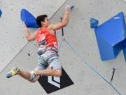 Sascha Lehmann gewinnt EM-Bronze im Lead (Bild: KEYSTONE/APA/APA/EXPA/ERICH SPIESS)