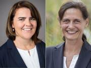 Sie beide könnten Geschichte schreiben und als erste Frauen ihre Kantone im Parlament vertreten: Antonia Fässler, CVP Appenzell Innerrhoden (links) und Monika Rüegger, SVP Obwalden. (Bild: Keystone)