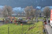 Immer wieder kommt es beim Autobahnzubringer zur A3 in Reichenburg zu Unfällen. (Bild: Kantonspolizei Schwyz, 13. Dezember 2018)