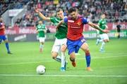 FC St.Gallen Ermedin Demirovic und Omar Alderete FC Basel (Bild: Ralph Ribi)