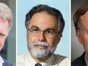 Von links nach rechts: Der Brite Sir Peter J. Ratcliffe und die US-Forscher Gregg L. Semenza und William G. Kaelin teilen sich den Nobelpreis für Physiologie oder Medizin. (Bild: Keystone/EPA OXFORD/JOHNS HOPKINS/DANA FA/OXFORD/JOHNS HOPKINS/D)