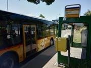 Die Bushaltestelle «Alpenblick» soll verschoben werden. (Bild: Pascal Moser)