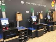 So sehen die Self-Checkout-Kassen in der Weinfelder Lidl-Filiale aus. (Bild: PD)