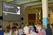 Der Filmabend «Siamo italiani» lockte am Kulturfestival in der Feldmühle viele Besucher an. Bild: Ramona Riedener