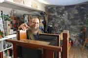 Urs Sohmer mit seiner Atelierplattenkamera aus der TV-Trödlershow «Bares für Rares». (Bilder: Michael Hug)