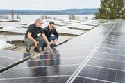 Vor allem Fotovoltaik-Strom legt im Thurgau zu. Hier die Anlage auf dem Dach der Tobi Seeobst AG in Güttingen. (Bild: Andrea Stalder, 4. März 2017)