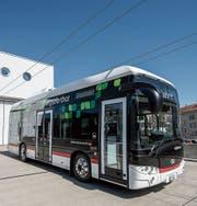 Der batteriebetriebene Bus erfüllt gemäss dem Stadtrat zuverlässig seinen Dienst. Bild: Adriana Ortiz Cardozo (29. März 2019)