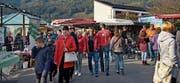 Die Organisatoren der Kilbi mit den beteiligten Vereinen hoffen auf gutes Wetter und viele Gäste. (Bild: pd)