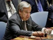 Die Uno erlebt laut ihrem Generalsekretär António Guterres die «schlimmste Geldkrise seit fast einem Jahrzehnt». (Bild: KEYSTONE/AP/SETH WENIG)