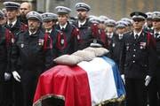 Die Opfer des Terroranschlags wurden am Dienstag in Paris geehrt. (Bild: Keystone)