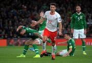Immer wieder für ein Tor gut. Hier freut sich Fabian Schär über sein 1:0 im EM-Qualifikationsspiel in Irland. Am Ende gibt es nur ein Unentschieden. (Bild: Keystone)