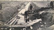 Anfang der 1920er-Jahre wurde der Giessen als Entwässerungskanal zwischen Altdorf und Flüelen gebaut. Bild: PD
