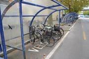 Beim Inseli-Carparkplatz ist viel Platz für Velos vorhanden. (Bild: Janick Wetterwald, 8. Oktober 2019)