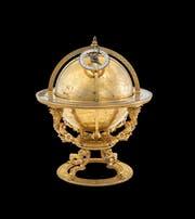 Ein Prunkstück: Vergoldeter Himmelsglobus, hergestellt von Jost Bürgi, 1594. (Bild: SNM)