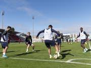 Das Nationalteam im Training auf der Lausanner Pontaise (Bild: KEYSTONE/LAURENT GILLIERON)