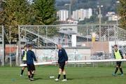 Nach wochenlangem Aufbautraining hofft Philippe Senderos, am Sonntag erstmals für den FC Chiasso aufzulaufen. (Bild: Davide Agosta)