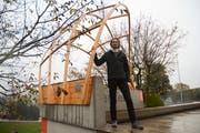 Architekturstudent Miro Bannwart hat im Rahmen seiner Masterarbeit eine neue Holzbauweise erfunden. Bild: PAG