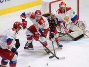 Die russische Auswahl war einmal mehr zu stark für die Schweizer Nationalmannschaft (Bild: KEYSTONE/URS FLUEELER)