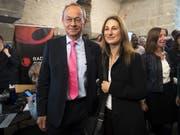 Der Bisherige Olivier Français (FDP) und Adèle Thorens von den Grünen werden den Kanton Waadt in den nächsten vier Jahren im Ständerat vertreten. (Bild: KEYSTONE/LAURENT GILLIERON)