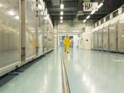 Eine Aufnahme aus dem Innern der iranischen Atomanlage Fordo. (Bild: Keystone/EPA Atomic Energy organization o/HO HANDOUT)