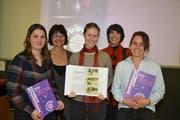 Claudia Finkele, Susanne Keller, Clara Müller, Hanna Rauber und Sarah Mehrmann (von links).Bild: Adi Lippuner