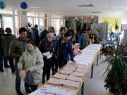 In Spanien wird zum zweiten Mal in diesem Jahr das Parlament neu gewählt. (Bild: KEYSTONE/AP/ANDREA COMAS)