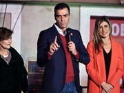 Kein Ausweg aus der politischen Krise in Spanien in Sicht: der sozialistische Ministerpräsident Pedro Sánchez. (Bild: KEYSTONE/EPA EFE/FERNANDO VILLAR)