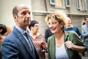 Gewählt: Die CVP-Politiker Beat Rieder und Marianne Maret. (KEYSTONE/Olivier Maire)