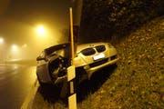 Am Fahrzeug entstand ein Totalschaden. (Bild: PD)