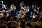 Das Baarer Kammerorchester im Dreiklang-Saal. Bild: Maria Schmid (Steinhausen, 3. November 2019)