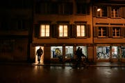 In St.Gallen befindet sich die Pilgerherberge im ersten Stock des Hauses Linsebühlstrasse 61. (Bild: Hannes Thalmann - 4. Februar 2008)