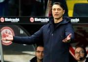 Was soll ich machen? Bei Niko Kovac herrschte am Samstag Ratlosigkeit: Eine Handschrift und Weiterentwicklung der Bayern war unter ihm nicht zu erkennen. (Bild: Keystone)