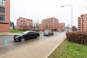 Der Vonwilpark ist eine der grossen Stadtsanktgaller Überbauung aus einem Guss. Er dominiert das Gebiet zwischen Kreuzbleiche und Burgweier-Areal. (Bild: Hanspeter Schiess - 9. Dezember 2014)
