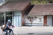 Der ehemalige Kiosk in der Bergstation der Mühleggbahn. Hier wird derzeit umgebaut, damit bis Ende Jahr der erste «inklusive Kiosk» der Ostschweiz seine Türen öffnen kann. (Bild: Ralph Ribi - 13. Mai 2019)
