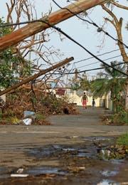 Mit der Erderwärmung könnten die Klimaextreme häufiger werden. So wie hier beim Hurrikan Maria auf Puerto Rico. (Bild: AP)