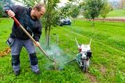 Gegen gefrässige Feldmäuse kommt der «Mauki» zum Einsatz. (Bild: Rudolf Hirtl)