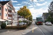 Die Bischofszellerstrasse wird saniert. Gleichzeitig will die Stadt Gossau die Umgebung neu gestalten. (Bilder: Ralph Ribi (4. November 2019))