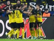 Nach einem 0:2-Rückstand dreht Borussia Dortmund nach der Pause auf und bezwingt Inter Mailand daheim 3:2 (Bild: KEYSTONE/AP/MARTIN MEISSNER)