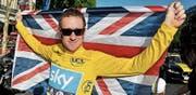 Die Diskussionen um den früheren Tour-de-France-Sieger Bradley Wiggins sind unter Umständen noch nicht ausgestanden. (Nicolas Bouvy/EPA, Paris, 22. Juli 2012)
