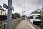 Bahnhof Bruggen: Mit der S-Bahn verpasst man von hier aus in Gossau Züge nach Zürich um knappe vier Minuten. (Bild: Ralph Ribi - 3. September 2018)
